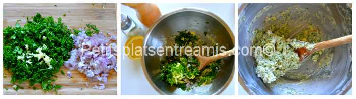 préparation beurre aux herbes