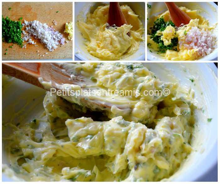préparation beurre persillé pour grillade