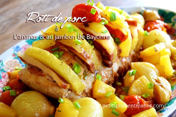rôti-de-porc-à-l'ananas-et-au-jambon-de-Bayonne