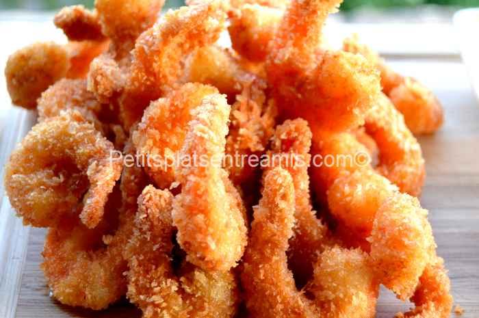 recette crevettes panées au panko