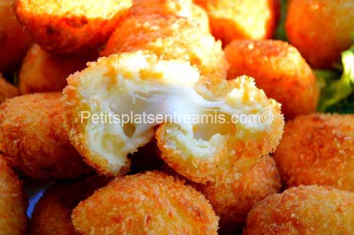 recette croquettes de pommes de terre et mozzarella