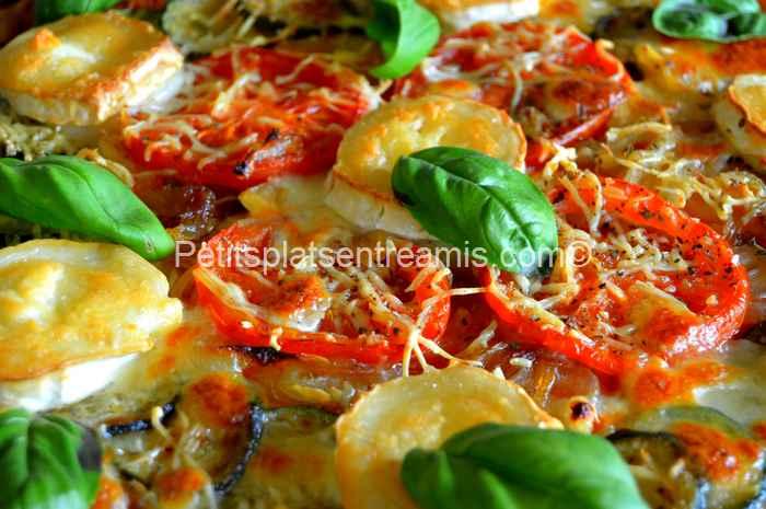recette pizza au chèvre et basilic