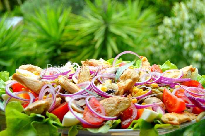Salade de blancs de volaille recette