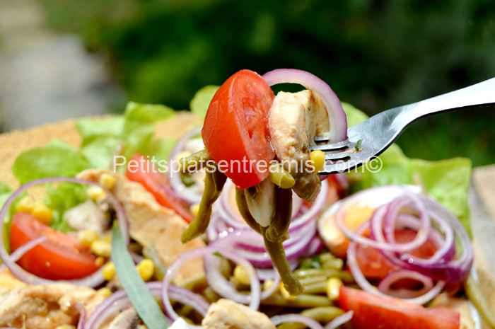 bouchée de Salade de blancs de volaille