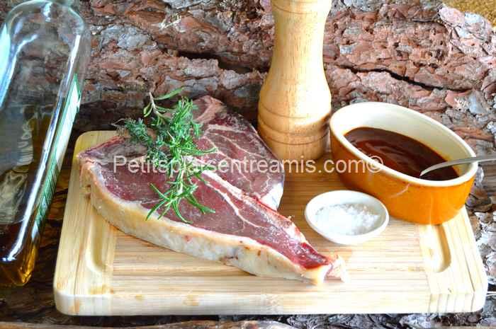 ingrédients pour T-bone sauce barbecue