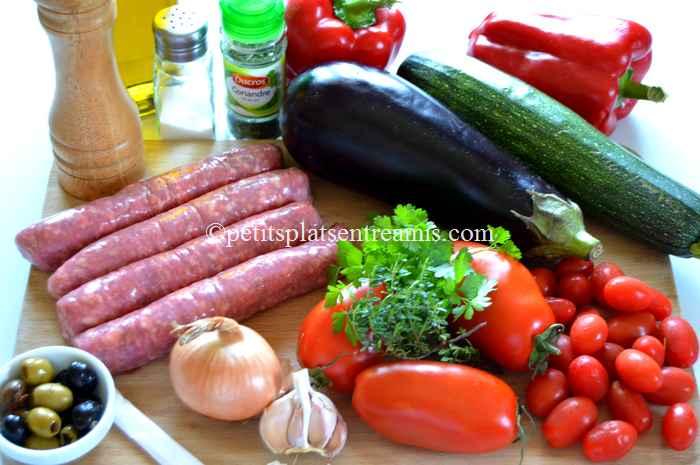 ingrédients ragoût de saucisses à la provençale