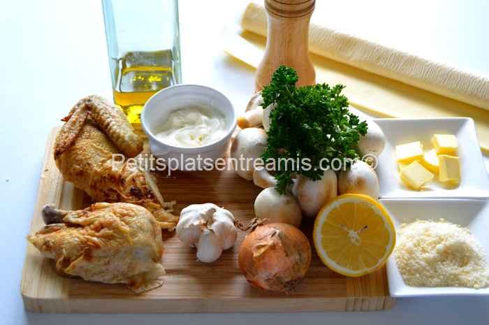 ingrédients rissoles au poulet