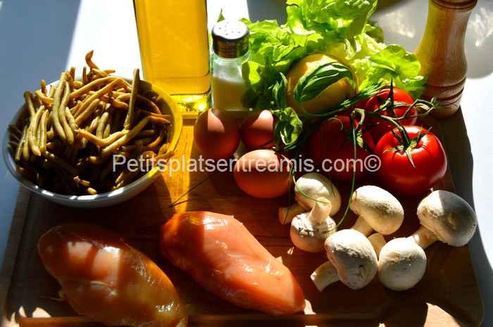 ingrédients salade-de-blancs-de-volaille