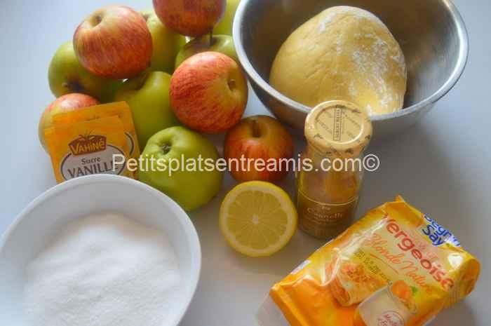 ingrédients tarte aux pommes grand-mère
