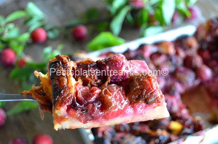 part de clafoutis aux prunes