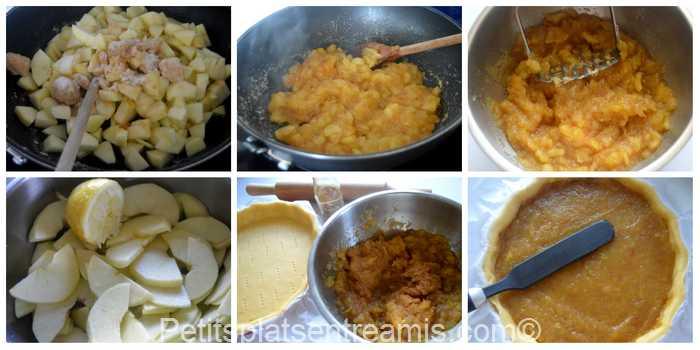 préparation tarte aux pommes grand-mère