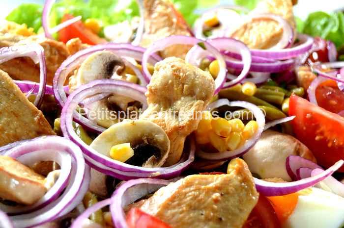 recette Salade de blancs de volaille