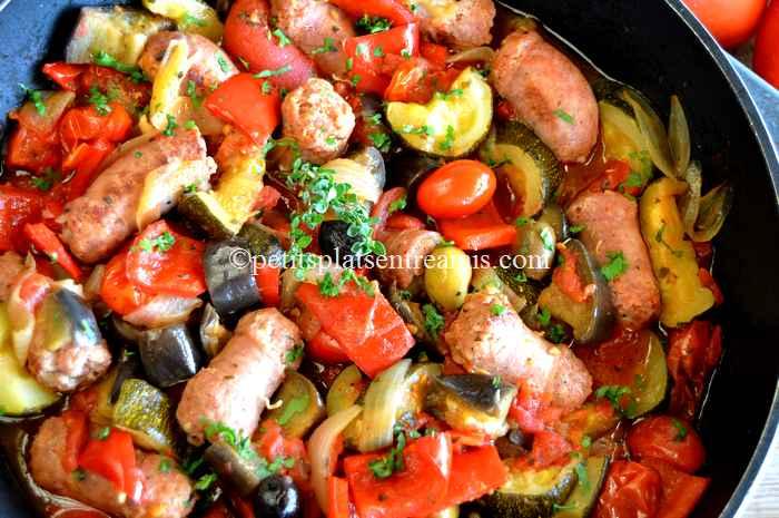 recette ragoût de saucisses à la provençale