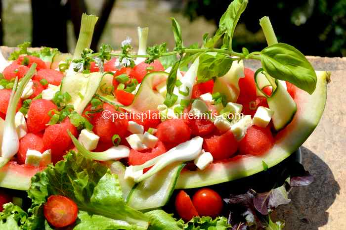 recette salade-de pastèque-et-autres-fraîcheurs