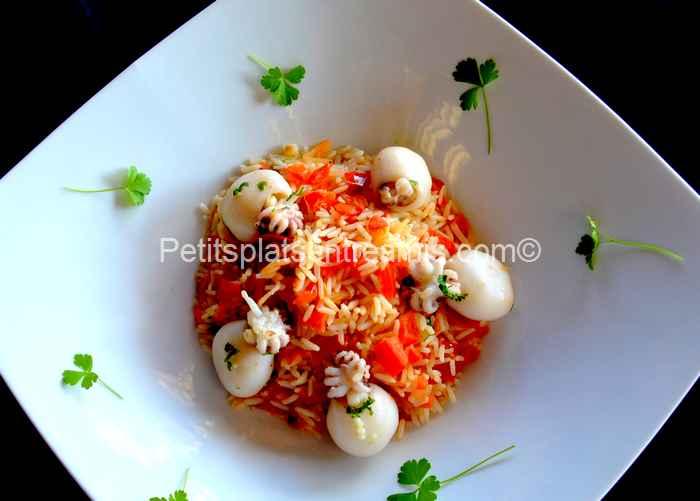 riz pilaf aux supions recette