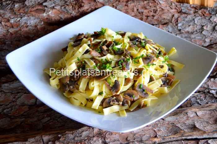 tagliatelles aux champignons recette