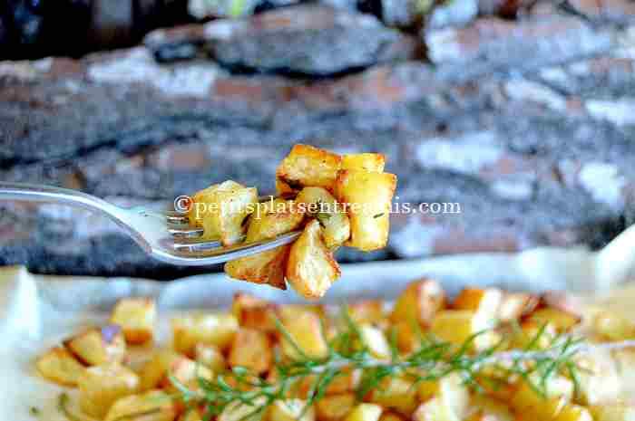 bouchée de pommes de terre frites au four