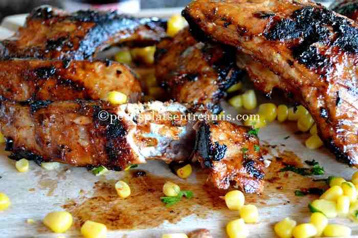 bouchée de travers-de-porc---ribs-au-sirop-d'érable recette