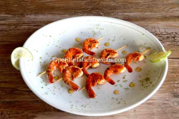 brochettes-de-crevettes-grillées recette