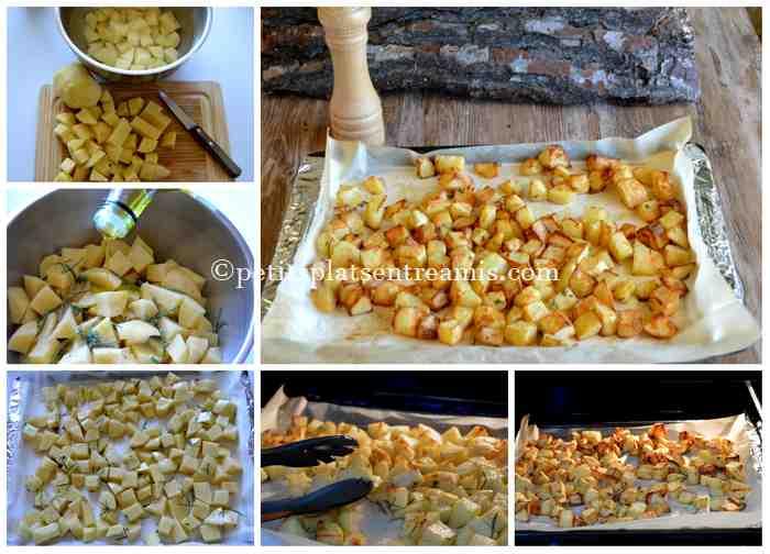 cuisson des pommes de terre frites au four