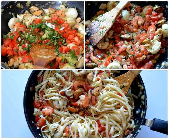 cuisson pâtes aux fruits de mer
