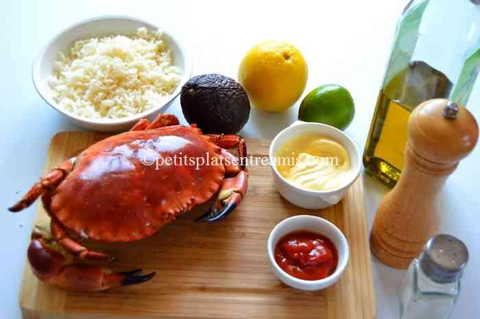 ingrédients crabe-à-l'avocat