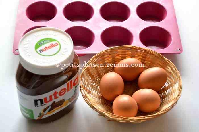 ingrédients petits-gâteaux-au-nutella