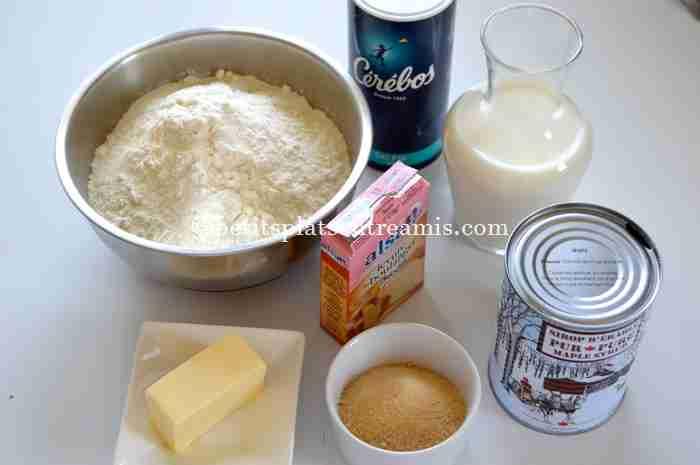 ingrédients petits-pains-à-l'érable