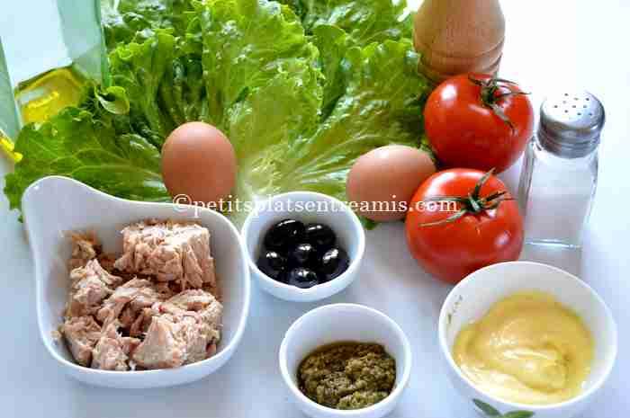 ingrédients pour salade-de-thon