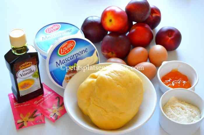 ingrédients tarte-aux-nectarines