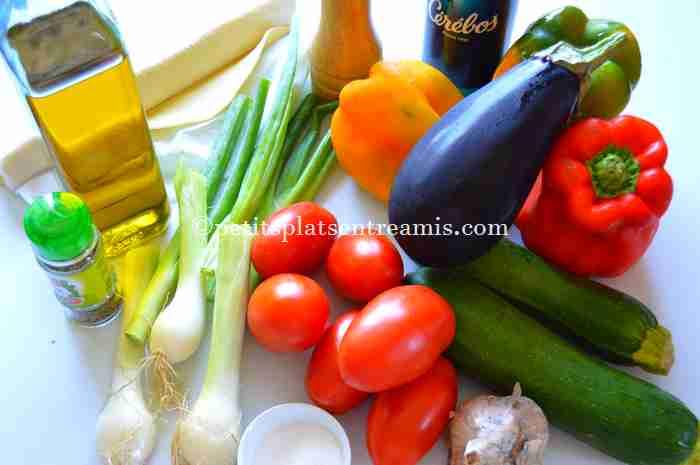 ingrédients tarte-provençale