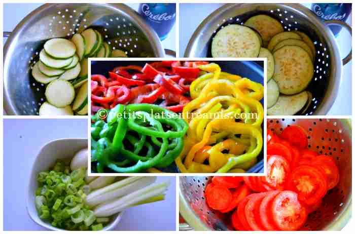 légumes provençaux tranchés