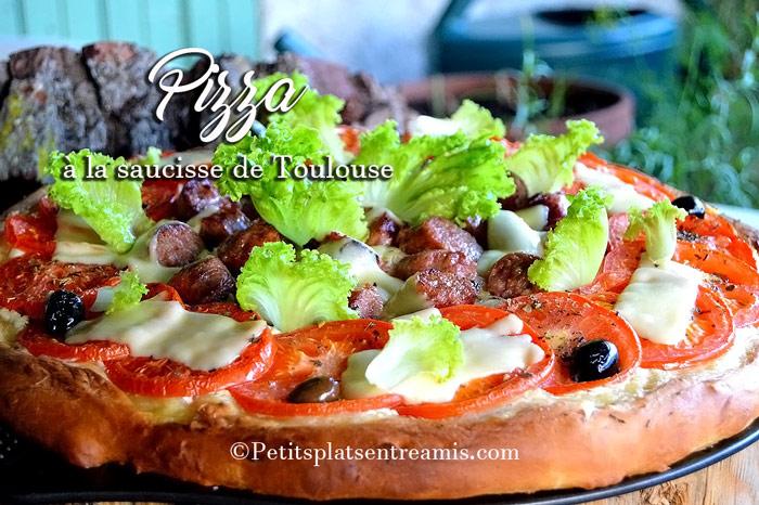 Pizza aux saucisses de Toulouse