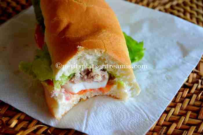 recette sandwich au thon