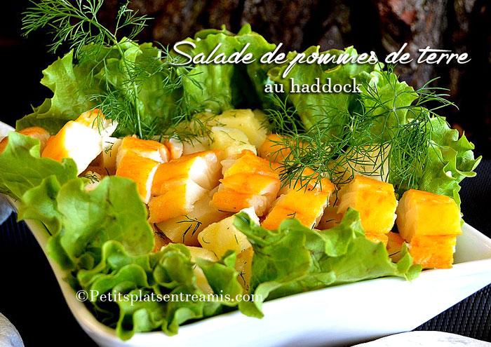 Salade de pommes de terre au haddock