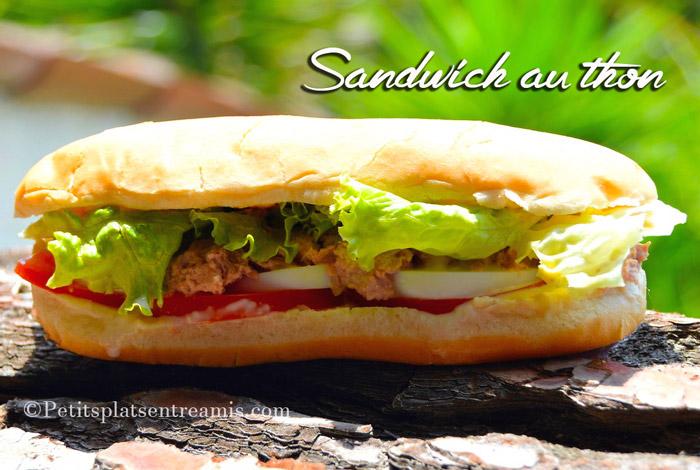 Recette du sandwich au thon