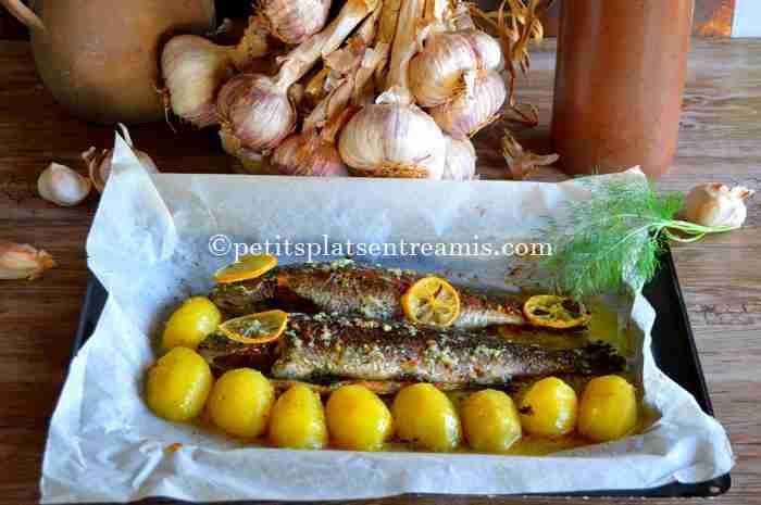 truite-saumonée-au-beurre-d'ail-et-aneth recette