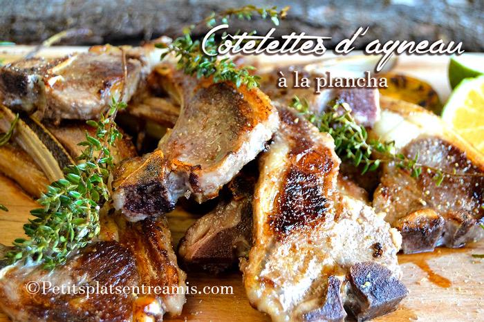 Côtelettes d'agneau à la plancha
