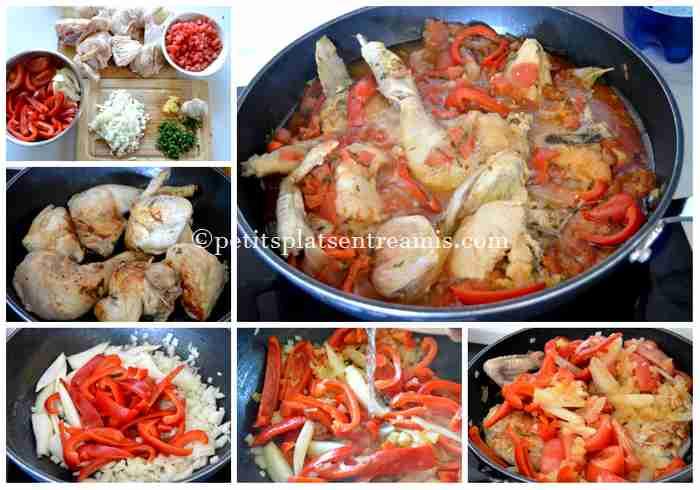 cuisson poulet basquaise
