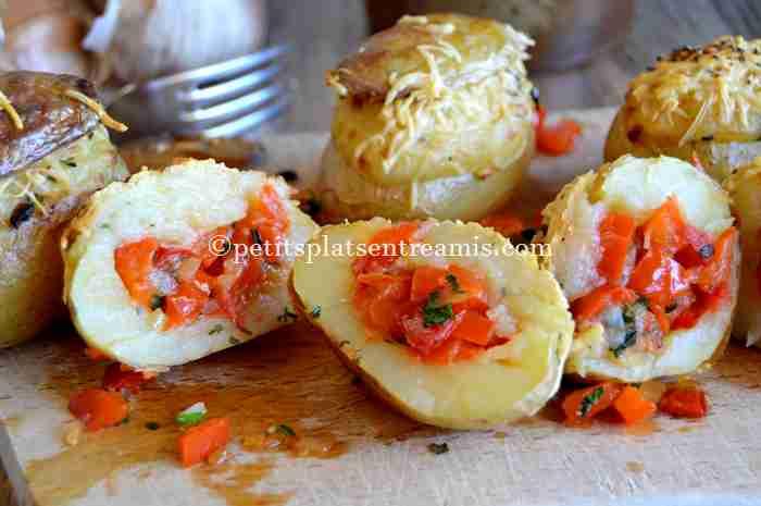 dégustation de pommes-de-terre-farcies-aux-poivrons