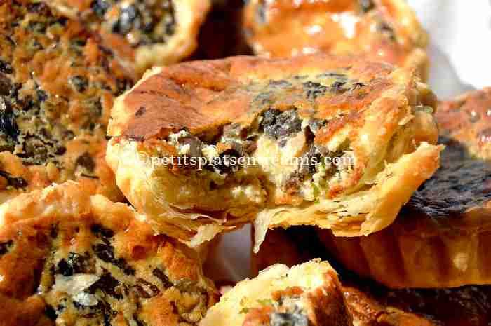 dégustation petites-tartelettes-aux-champignons