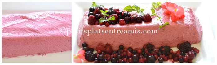 dressage mousse aux fruits rouges
