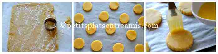 façonnage des biscuits aux amandes