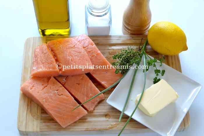 ingrédients pavés de saumon au beurre blanc