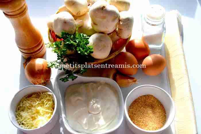 ingrédients pour petites-tartelettes-aux-champignons