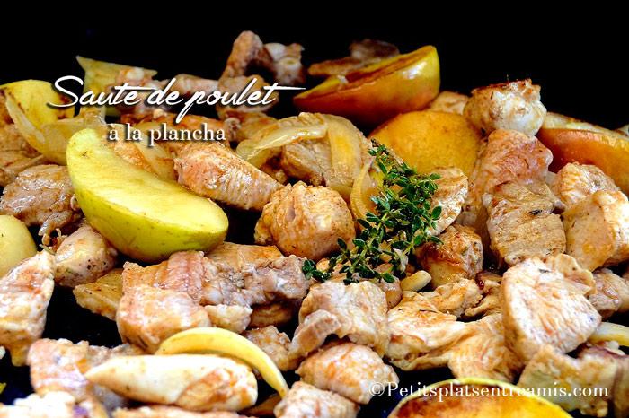 Sauté de poulet à la plancha