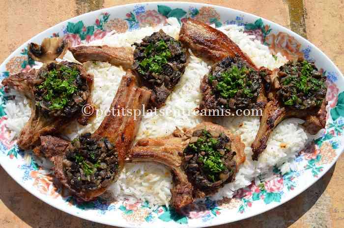 cotes-dagneau-aux-champignons-recette