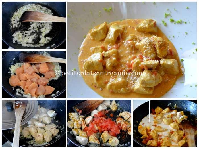 cuisson du poulet coco