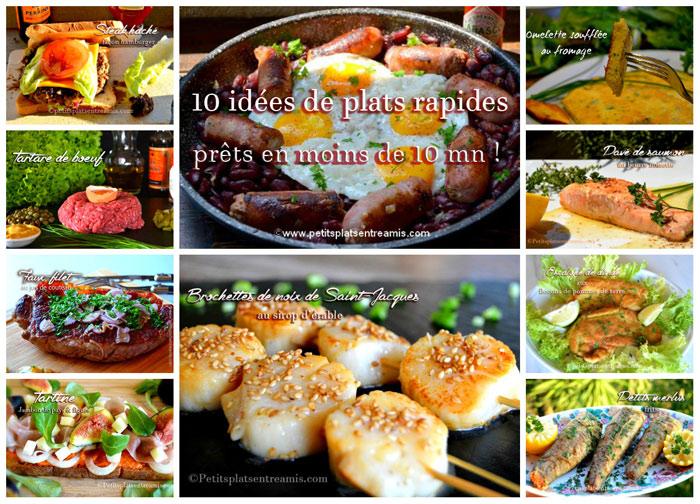 Idée de recettes de plats rapides et faciles
