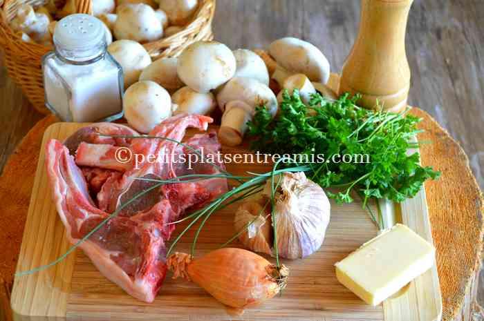 ingredients-pour-cotes-dagneau-aux-champignons